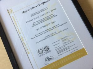 Withers Design Achieve ISO 9001 Certification